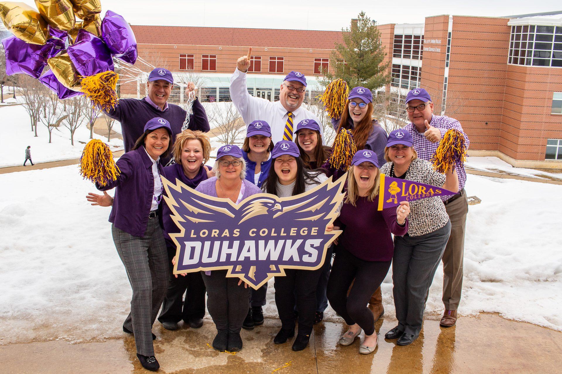 Celebrate Loras College Duhawk Day