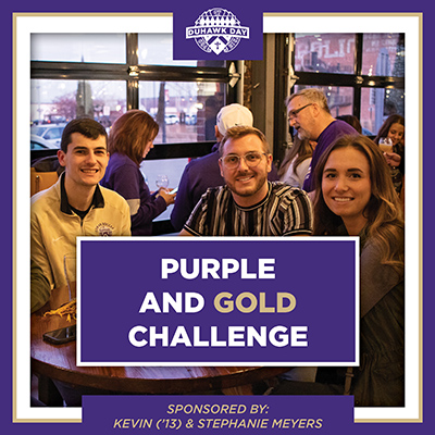 Support Purple and Gold Challenge